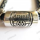 FC Club Football Sport Punk Leather Strap Necklace Arsenal