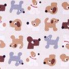 Cute puppy//maroon//cotton//oxford