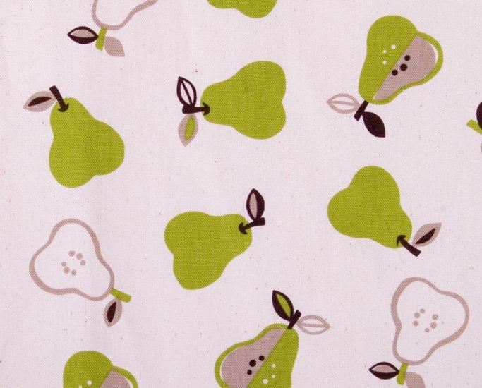 Kawaii apples oxford 20s//natural green//cotton