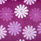 Floral dark pink//cotton//satin