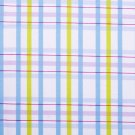Pottery blue check//cotton//2 yards