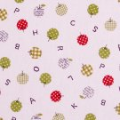 Checks and dots in apples oxford 20s//natural red and green//cotton