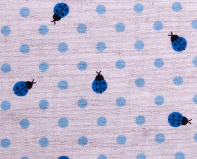 Dots and goldbugs//linens//blue