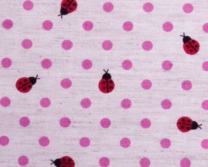 Dots and goldbugs//linens//pink