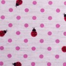 Dots and goldbugs//linens//pink