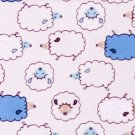 Kawaii curled lamps//blue//cotton//oxford