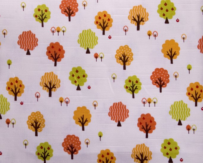 kawaii trees//orange//slub