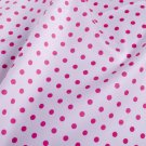 7mm pink dots in white//cotton