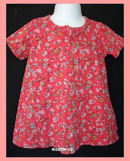 Oilily Girl Birdie Blah Blah S-Rosa Dress 92 2T
