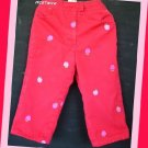 Lilly PulitzerGirl Red Pants Pink Apples 3T