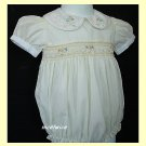 Carriage Boutiques Girl Yellow Smocked Easter Bubble 9M