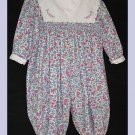 Petit Ami Girl Long LS Romper Flowers 18 M
