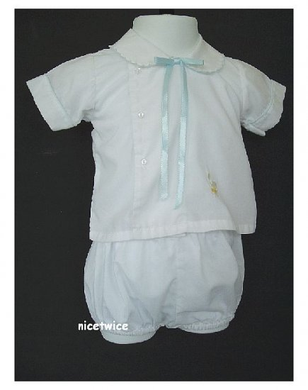 House of Hatten Boy White Easter Shorts Set 6 M