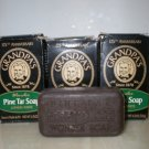 Lot 8 GRANDPA Soap Pine Bath 4.25 Oz Natural Soap Oily Skin Acne Men Women Brown UPC 010486007011