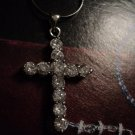 """Lot 2 New Genuine Solid Sterling Silver Snake Chain 18"""" & CZ CROSS Womens NWOT UPC:"""