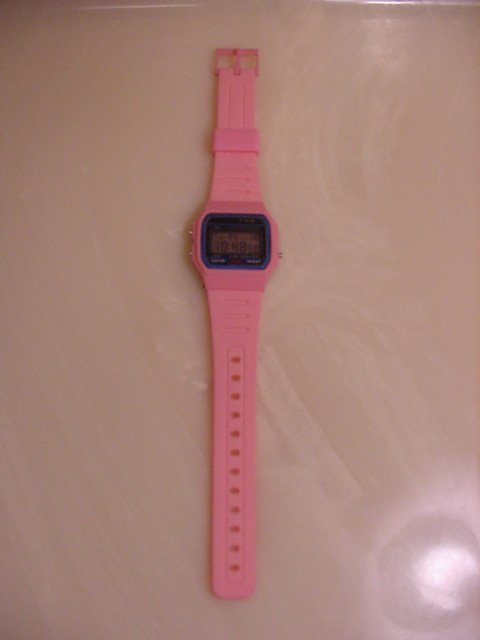 New Pink Digital Watch Chronograph Stop Watch Alarm Seconds Lights Up Womens UPC: