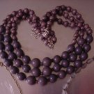 New Claire's Graduated Triple Strand Beaded Necklace Womens Clay UPC