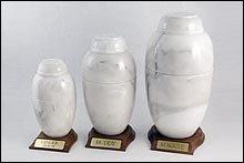 White Vase Urn