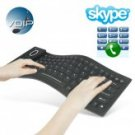Flexible Keyboard with Skype Internet Phone (VOIP)