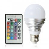 LED Color Changing Light Bulb - 16 Color LED Lamp with Remote