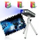 4 GB Mini Multimedia Projector with Micro SD (Slim Design)