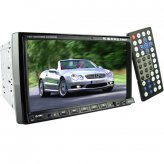 2-DIN Car DVD Player + GPS + Bluetooth with 7 Inch Touchscreen