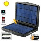 Portable Solar Battery/Charger In Tough Clamshell Case