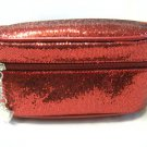 YBF Your Best Friend Red Glitter Cosmetics Makeup Bag
