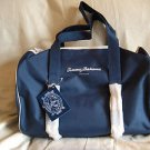 Tommy Bahama Navy Canvas Duffel Bag