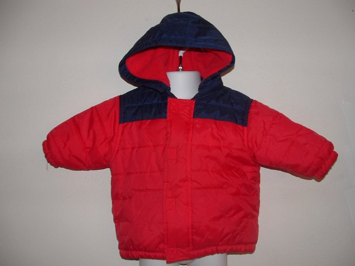EUC Boys SESAME STREET Hooded Winter Coat Jacket 12 Mo