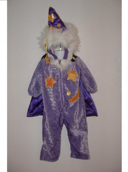 Girls Boys Wizard Halloween Costume Size Small 2T-3T