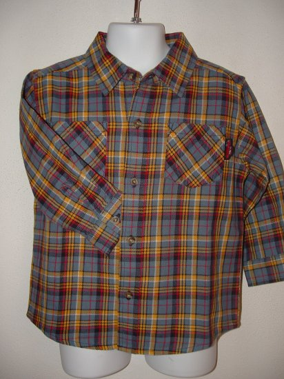 NWT Boys GYMBOREE Custom Hot Rod Plaid Top Shirt Sz 2T