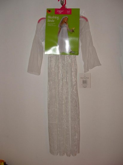 NWT Girls 2pc BLUSHING BRIDE Halloween Costume Sz 4-6x