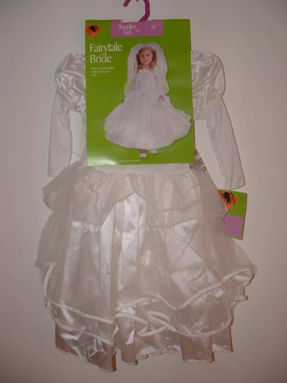 NWT Girls FAIRYTALE BRIDE Princess Costume Sz 2T
