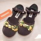 NWT Girls GYMBOREE Prep Club Espadrille Sandals Sz 8M