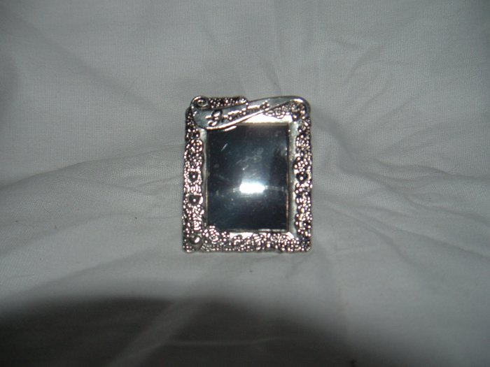 NIP Mini Silver Photo Easel Frame or Pin Gift 4 Grandma