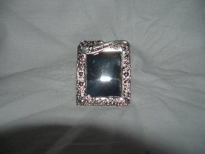 NIP Mini Silver Photo Easel Frame or Pin Gift 4 Grandma