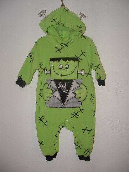 NWT Girl Boy Halloween FRANKENSTEIN Costume Sz 3-6 Mo