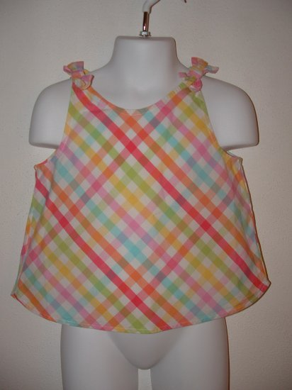 NWT Girls GYMBOREE Tutti Fruiti Gingham Tank Sz 3T
