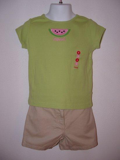 NWT Girls GYMBOREE Tutti Fruiti Short Shirt LOT Sz 3