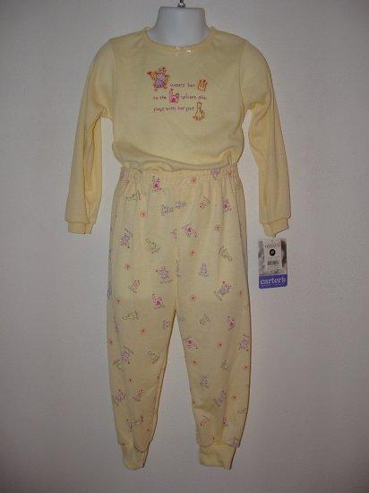 *NWT* Girls CARTERS 2pc Fall Princess Pajamas Size 4T