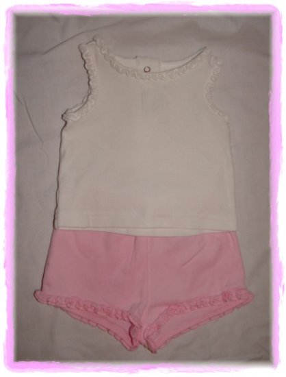 Girls GYMBOREE 2pc Summer Short Set Size 0-3 Mo *EUC*