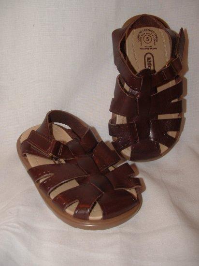 Girl Boy KID CONNECTION Brown Sandels Size 5 **EUC**