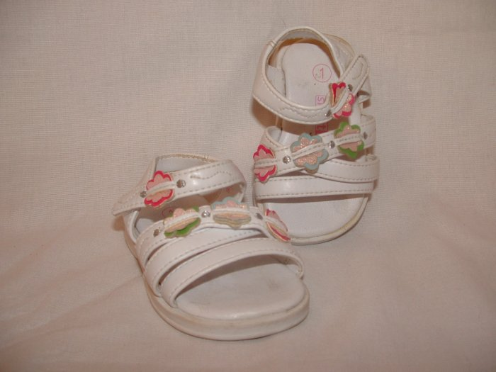 !CUTE! Infant Girls SMART FIT Sandels Size 1 **EUC**