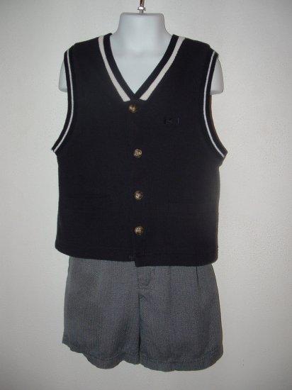 Boy KID HEADQUARTERS 2pc Dressy Short Set 5 EUC
