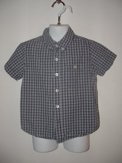 Boys CHEROKEE Plaid Short Sleeve Shirt Size 4T **EUC**