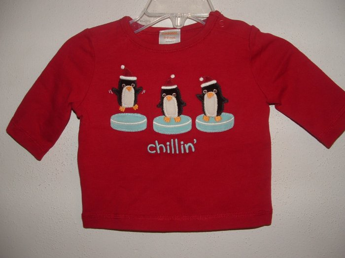 NWT Boy GYMBOREE Chillin' Long Sleeve Shirt 0-3 Mo HTF