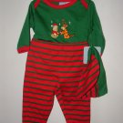 Boy Girl DISNEY Pooh Xmas 3pc Pant Set Sz 3-6 Mo *NWT*