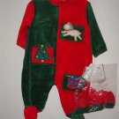 Boy Girl MINIBASIX 2pc Velour Sleeper Set Sz 3 Mo *NWT*
