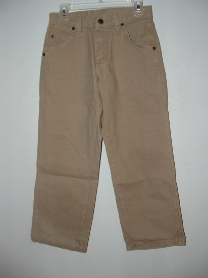 **NWT** Boys WRANGLER Tan Loose Fit Jeans Size 8R